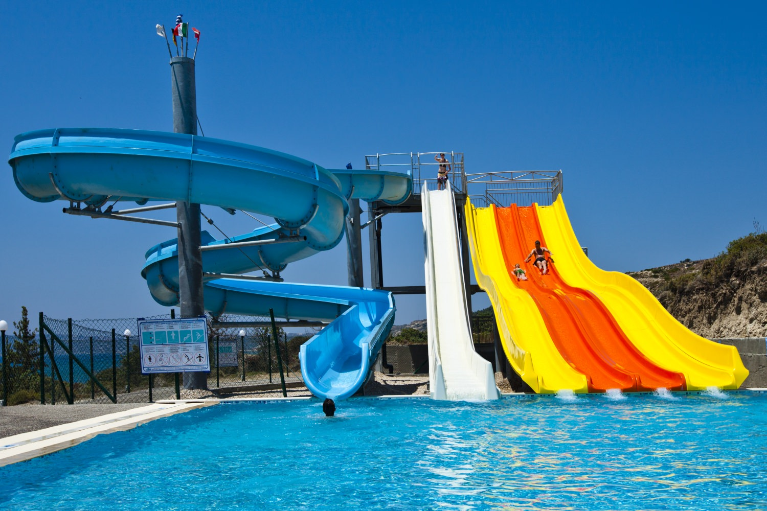 Adult slides (and for children over 122cm)