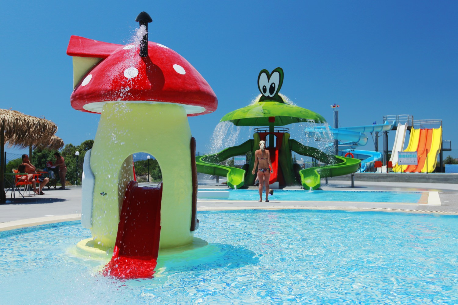 Waterpark with Slides for Different Ages